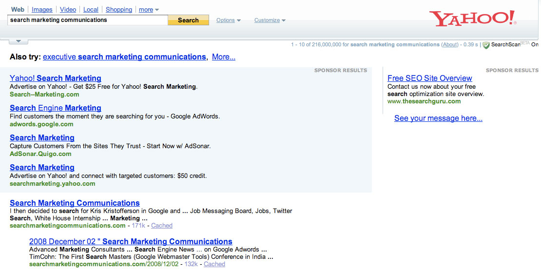 Yahoo Search Marketing - Global Advertising Media Private Limited